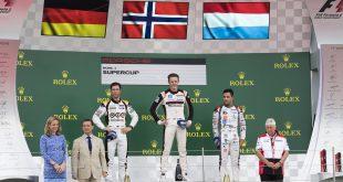 Dennis Olsen tok en historisk seier da han vant Silverstone-runden i Porsche Supercup.