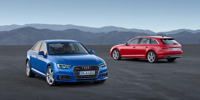 En Audi A4 bensin og en Audi A4 Avant diesel side om side. (Foto: Audi)