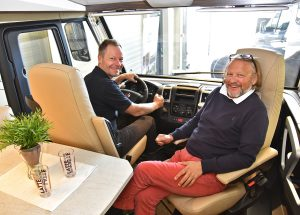 Geir Holm og Konrad Sel. (Alle foto: Caravanmessen)