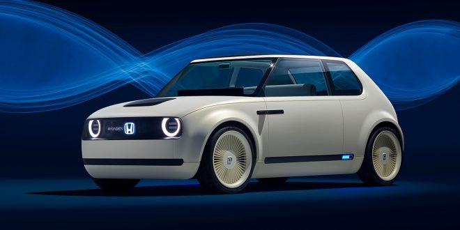 Denne er laget på en plattform Honda vil bruke på sine elbiler. (Alle foto: Honda)