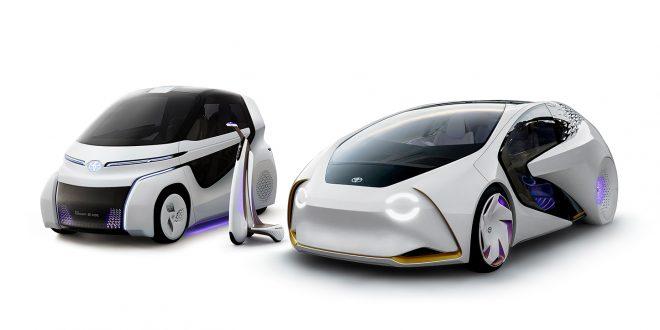 Denne trioen er Toyota Concept-i, og skal dekke transportsbehovet i framtiden. (Alle foto: Toyota)