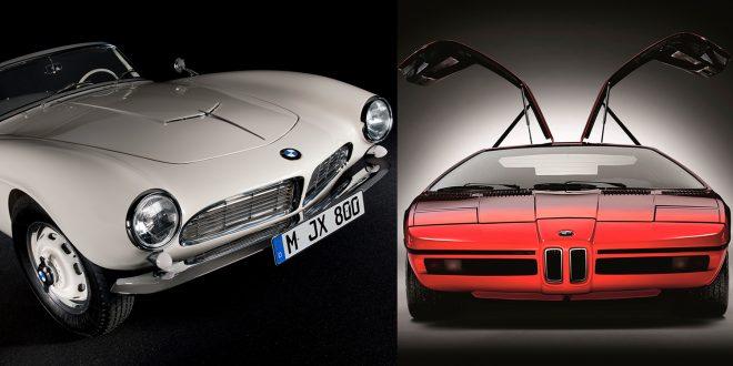 To av de desiderte klassikerne fra BMW, 507 (t.v.) og BMW Turbo. (Foto: BMW)