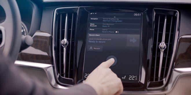 Morgendagens biler er full av teknologi og koblet til nettet. Dette har mange fordeler, men kan også ha noen negative sider. (Illustrasjonsfoto: Volvo)