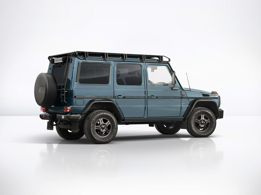 G 350 d Professional i en farge kalt Kina-blå.