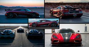 En, to, tre, fire og fem. Koenigsegg Agera RS satte fem verdensrekorder. Foto: Koenigsegg)