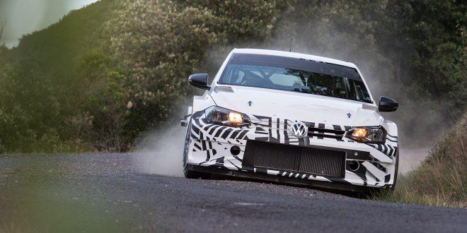 Volkswagen Motorsport har gjennomført den første testen av Polo GTI R5. (Foto: Volkswagen)