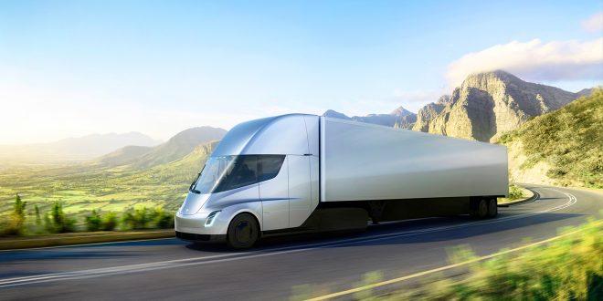 Flere selskaper har allerede bestilt Tesla semitruck. (Foto: Tesla)