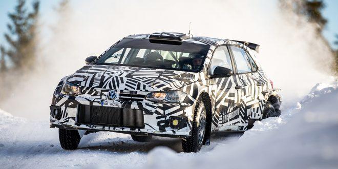 Petter Solberg var tilbake i en rallybil da han testet for Volkswagen. (Foto: VW)