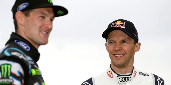 Andreas Bakkerud (t.v.) skal kjøre for Mattias Ekströms EKS RX kommende sesong. (Alle foto: Audi)