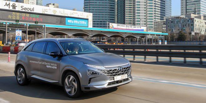 Hyundai sier at de har vist fram verdens første selvkjørende hydrogenbil på nivå 4. (Foto: Hyundai)