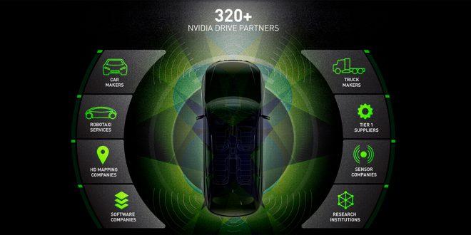 Nvidia styrer mye av utviklingen av selvkjørende biler. (Illustrasjon: Nvidia)