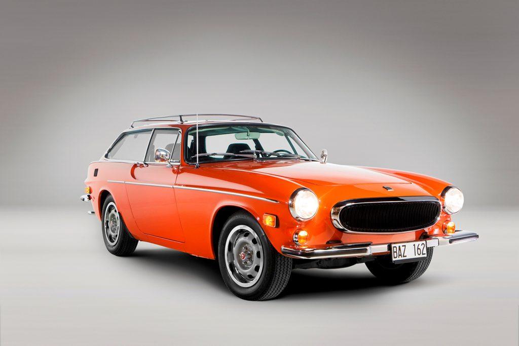 En Volvo 1800 ES som aldri er kjørt på vei. Men Vegvesenet ville vært stolt av fargen!