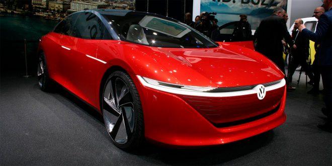 I.D. Vizzion er det elektriske flaggskipet til Volkswagen. Og den er selvkjørende. (Alle foto: VW)