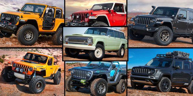 Jeep knaller til med hele sju konseptmodeller. (Alle foto: Jeep)