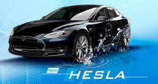 Dette er en Hesla, hydrogenvarianten av Tesla. (Foto: Holthausen)