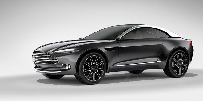 Aston Martin viste fram en konseptmodell med navnet DBX i 2015. Den skal etter planen komme i 2019, da med fire dører. (Begge foto: Aston Martin)