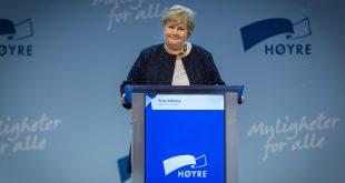 Statsminister Erna Solberg vil ikke ta stilling til forslaget om å la de fossile bilene ta elbilregningen. (Foto: Høyre)