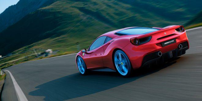 Ja, Ferrari driver nå og sysler med elektrifisering av sine biler. Men denne, 488 GTB har kun bensindrift. (Foto: Ferrari)