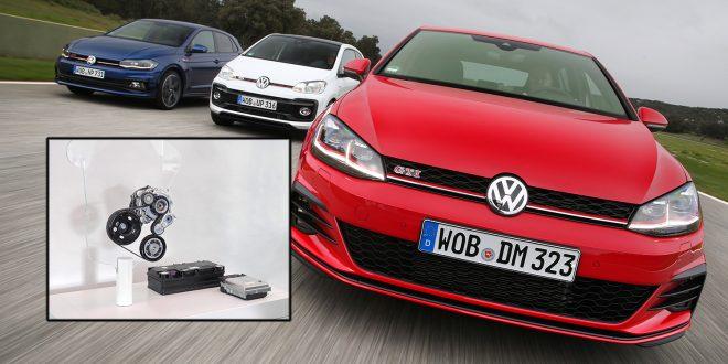 Generasjonen som følger etter nåværende Golf som er avbildet her vil få et nytt mild hybridsystem som er innfelt. (Foto: VW)