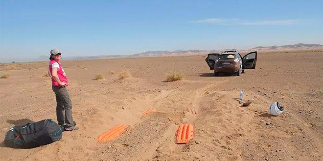 Her er noe så unik som en Renault Zoe i et ørkenrally. (Foto: Renault)