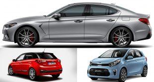 Genesis (øverst), Kia (t.h.) og Hyundai har de beste bilene, ifølge en amerikansk undersøkelse. (Foto: Hyundai/Kia)