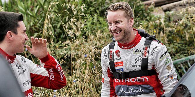 Mads Østberg har grunn til å smile, for nå har han fått forlenget kontrakten med Citroën ut året. (Foto: Citroën)