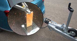 Slik sjekker du hengerens vekt. (Foto: VW/Statens vegvesen)