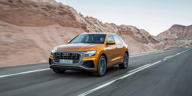 Audi Q8 kommer i august. (Begge foto: Audi)
