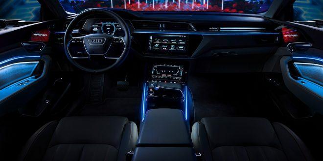 Det er stort sett dekkstøy man hører når man kjører Audi e-tron i byene. (Alle foto: Audi)