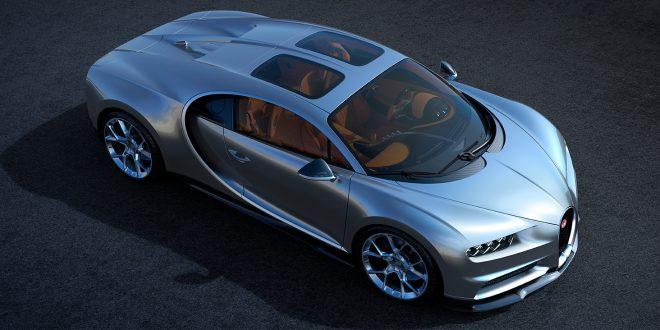 Bugatti Chiron kommer nå med glasspaneler i taket. (Alle foto: Bugatti)