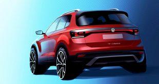 Volkswagen T-Cross skal produseres i Spania. (Begge foto: VW)