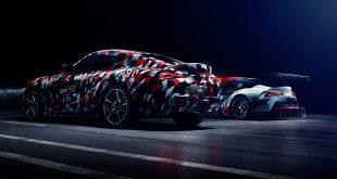 Toyota viser fram en ny Supra og en racingversjon av den (bak) under en festival kommende helg. (Alle foto: Toyota)