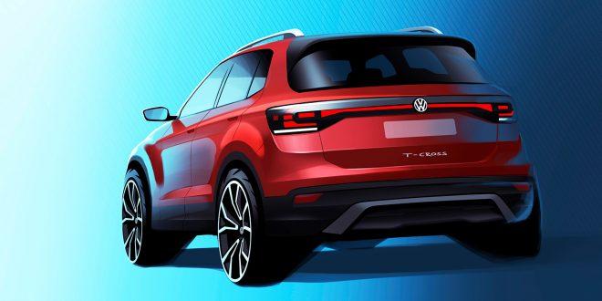 Dette er Volkswagens nyeste modell, T-Cross. (Foto: VW)