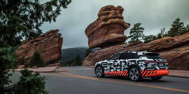 Audi e-tron får mye av rekkevidden fra bremseenergien som høstes. (Alle foto: Audi)