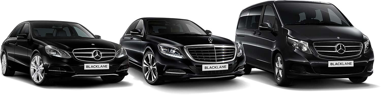 Blacklane lar deg passere flyplasskøen og komme deg kjapt inn i en av de svarte bilene. (Foto: Daimler)