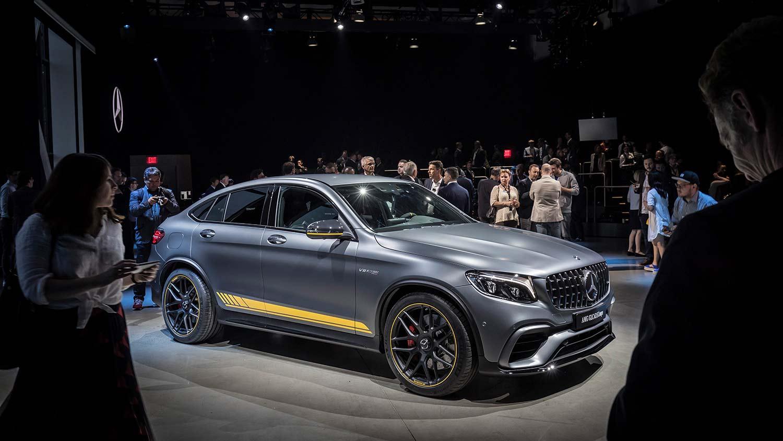 Mercedes viste fram AMG GLC 63 i New York i fjor. (Foto: Mercedes)