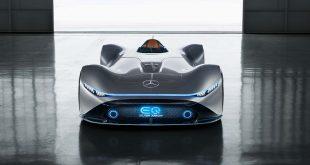 Mercedes viser fram et fartsmonster av en elbil. (Alle foto: Mercedes)