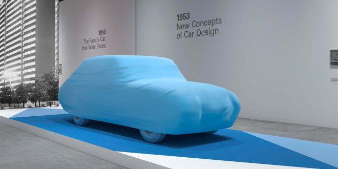 Denne bilen ble designet for 65 år siden, men blir først nå en realitet. (Foto: Grand Basel)