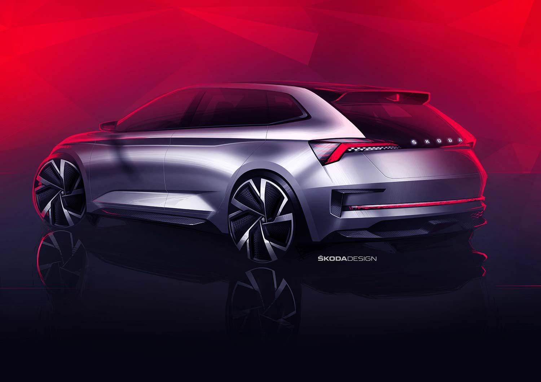 Vision RS skal etter planen vises fram under Paris Motor Show i oktober. (Foto: Skoda)