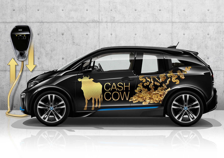 Lyst på en cash-ku? Det kan elbilen din bli i framtiden. (Foto: BMW)