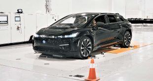 Faraday FF 91 er en imponerende elbilsom nærmer seg produksjon. (Foto: Faraday)