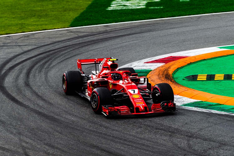 Kimi Räikkönen holdt en gjennomsnittsfart på over 263 km/t rundt Monza-banen. (Foto: Ferrari)