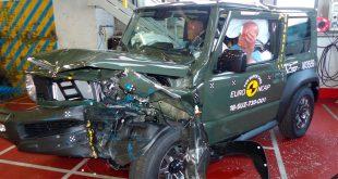 Suzuki Jimny krasjlandet under Euro NCAP's kollisjonstest, og var langt unna 5 stjerner. (Foto: Euro NCAP)
