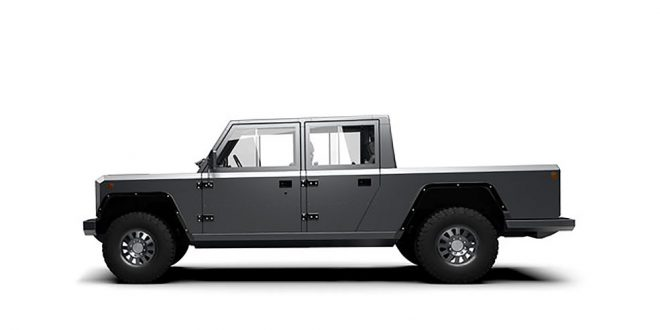 Sjekk denne komboen. Terrengbil, pickup og elbil. (Alle foto: Bollinger)
