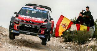 Sébastien Loeb gjorde et sensasjonelt comeback i WRC, og vant Rally Spania. (Foto: Citroën)