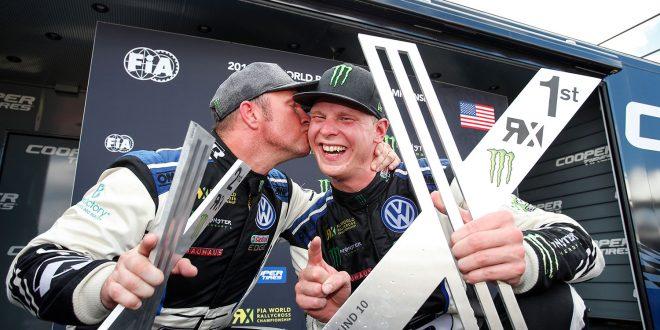 Petter Solberg og Johan Kristoffersson har sikret seg lagtittelen i rallycross-VM. (Foto: VW)
