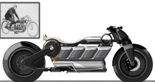Dette er en elektrisk motorsykkel som hyller en fartshelt fra 1907. (Alle foto: Curtiss)