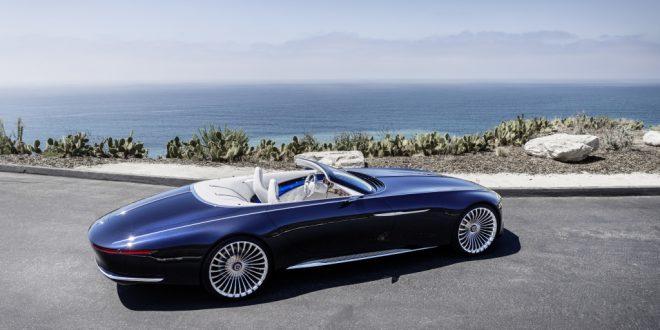 En vakker og elegant kjempe. Vision Mercedes-Maybach 6 Cabriolet vekker iallfall oppsikt. (Alle foto: Mercedes)