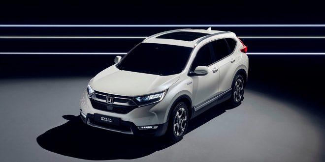 Honda kommer for føørste gamng til Euroopa med en hybrid, 2018-modellen av CR-V. (Alle foto: Honda)