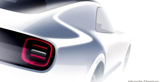 Honda teaser med et lite glimt av Sports EV Concept. (Foto: Honda)